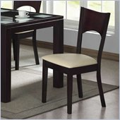 Homelegance Radius Merlot Chair with Cushion Seat (Set of 2)