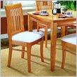 ADD TO YOUR SET: Homelegance Ellie Oak Slat Back Chair w/ Seat Cushion (Set of 2)