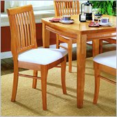 Homelegance Ellie Oak Slat Back Chair w/ Seat Cushion (Set of 2)