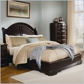 Homelegance Grandover Low Profile Panel Bed in Dark Cherry Finish