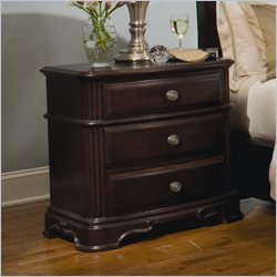Homelegance Grandover Nightstand in Dark Cherry