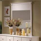 Homelegance Pottery White Mirror