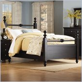 Homelegance Hanna Black Queen Size Panel Poster Bed