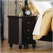 Homelegance Hanna Black Nightstand