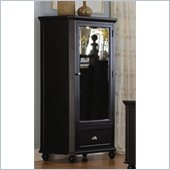 Homelegance Hanna Mirrored Tower Chest in Black Finish