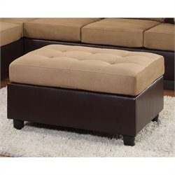 Trent Home Comfort Living Rhino Microfiber Ottoman in Brown