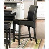 Homelegance Papario Counter Height Dining Side Chair in Black
