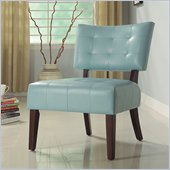 Homelegance Warner Accent Chair in Sky-Blue Bi-Cast Vinyl 