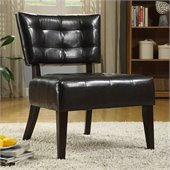 Homelegance Warner Accent Chair in Dark-Brown Bi-Cast Vinyl 