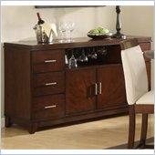 Homelegance Elmhurst Buffet in Brown Cherry Finish