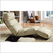 Homelegance Gamer Adjustable Lounge Chair in Cream