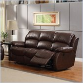 Homelegance McGraw Motion Sofa in Rich Dark Chocolate