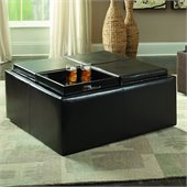 Homelegance Kaitlyn Cocktail Ottoman in Dark Brown