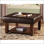 Homelegance Carroll Cocktail Ottoman in Dark Brown