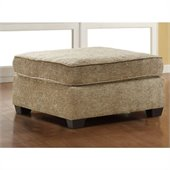 Homelegance Burke Ottoman in Brown Beige Chenille