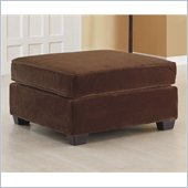 Homelegance Burke Ottoman in Dark Brown
