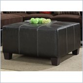 Homelegance Besty Cocktail Ottoman in Dark Brown