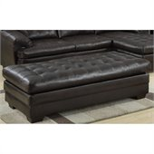 Homelegance Brooks Bench Ottoman in Dark Brown