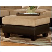 Homelegance Royce Ottoman in Brown Bella