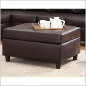 Homelegance Levan Cocktail Ottoman in Dark Brown