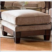 Homelegance Trenton Fabric Ottoman in Dark Tan Chenille