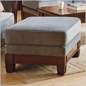 Homelegance Trenton Fabric Ottoman in Grey Velvet