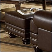 Homelegance Bentleys Ottoman in Rich Brown