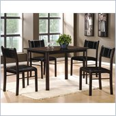 Homelegance Albany 5 Piece Dinette Table Set in Deep Espresso