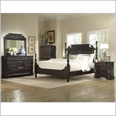 Homelegance Jackson Park Poster Bed in Dark Cherry
