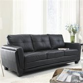 Homelegance Dwyer Sofa in Black Vinyl