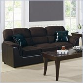 Homelegance Lombard Microfiber & Bi-Cast Vinyl Sofa in Chocolate