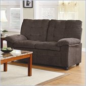 Homelegance Charley Love Seat in Chocolate Chenille