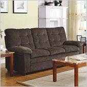 Homelegance Charley Sofa in Chocolate Chenille
