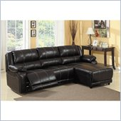 Homelegance Paul Sofa Chaise Sectional in Dark Espresso