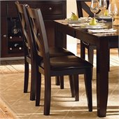 Homelegance Crown Point Dining Side Chair in Merlot (Set of 2)