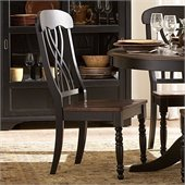 Homelegance Ohana Dining Side Chair in Black/Cherry (Set of 2)