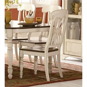 Trent Home Ohana Dining Chair in White and Cherry (Set of 2)