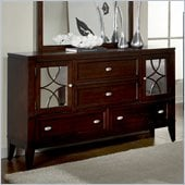 Homelegance Simpson Dresser in Brown Cherry