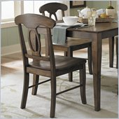 Homelegance Merritt Dining Side Chair in Dark Oak (Set of 2)