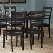 Homelegance Market Collection Dining Side Chair in Espresso (Set of 6)