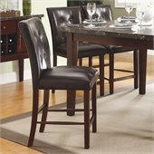 Homelegance Decatur Dining Counter Height Chair in Espresso (Set of 2)