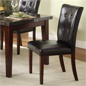 Homelegance Decatur Dining Side Chair in Espresso/Cherry (Set of 2)