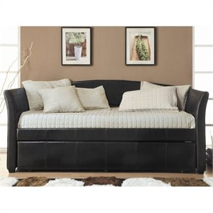 Trent Home Meyer Upholstered Twin Size Daybed in Dark Brown