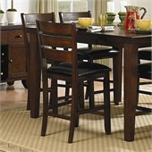 Homelegance Ameillia Counter Height Chair in Dark Oak (Set of 2)