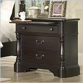 Homelegance Jackson Park Night Stand in Dark Cherry