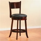 Homelegance Shapel Swivel Counter Height Chair in Cherry (Set of 2)