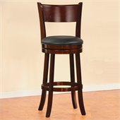 Homelegance Shapel Swivel Pub Chair in Cherry (Set of 2)