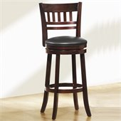 Homelegance Edmond Swivel Pub Chair in Dark Cherry (Set of 2) 
