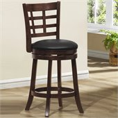 Homelegance Edmond Swivel Counter Height Chair in Cherry (Set of 2)