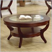 Homelegance Avalon Round Cocktail Table in Cherry